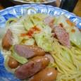 スパゲティ(キャベツのペペロンチーノ風)